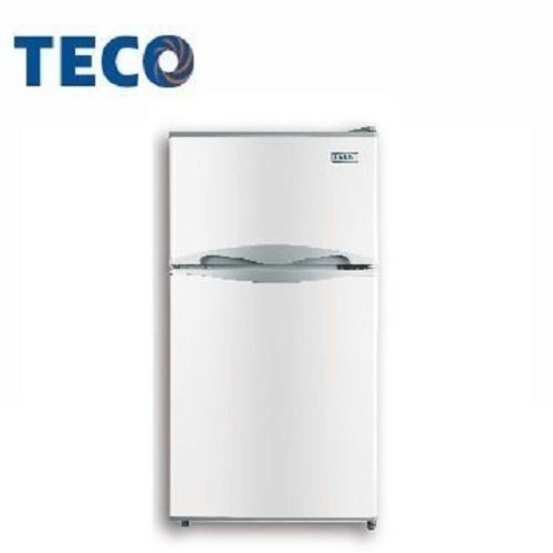 免運費 【東元TECO】100L 一級能效 雙門小冰箱/雙門冰箱 R1001W