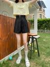 短褲女夏寬松褲子韓版高腰學生裙褲顯瘦闊腿休閑褲