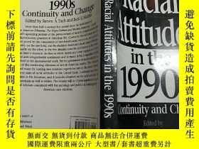 二手書博民逛書店(英文原版)Racial罕見Attitudes in the 1