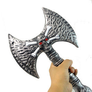萬聖節用品 武器裝備道具 骷髏斧頭  90g