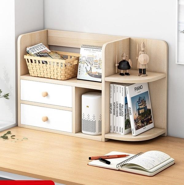 桌上小書架桌面書櫃學生書桌收納架子整理架多層簡約辦公桌置物架 嬡孕哺 LX