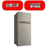 台灣三洋SANLUX【SR-C580BV1A】580公升雙門變頻冰箱