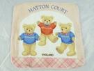 【震撼精品百貨】日本泰迪熊_HATTON COURT~方巾『粉-三隻熊』