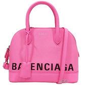 【Balenciaga 巴黎世家】518873  經典Balenciaga 印字手提/斜背兩用包(粉色)