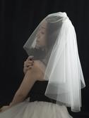 新娘結婚領證紀念日旅拍禮盒裝小頭紗短紗遮面紗