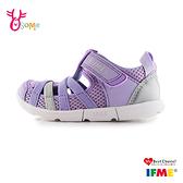 IFME 日本機能鞋 2020最新水涼鞋 中童 休閒運動鞋 Q7623#紫色◆OSOME奧森鞋業