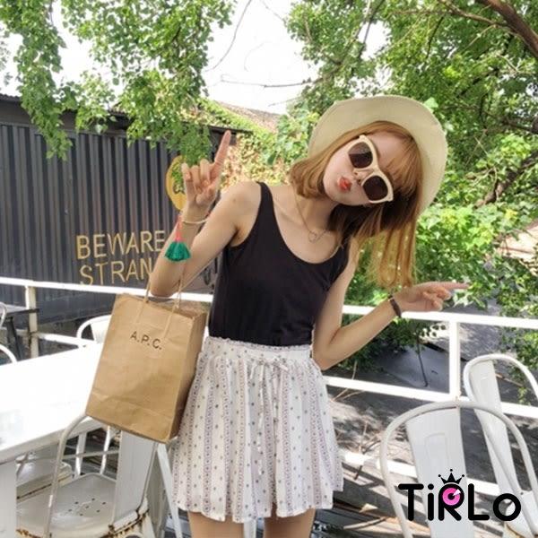 褲裙-Tirlo-氣質巴洛克繫帶雪紡褲裙-三色(現+追加預計5-7工作天出貨)