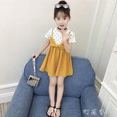 夏裝童裝女童洋裝中大童女寶寶短袖裙子洋氣兒童公主裙 町目家