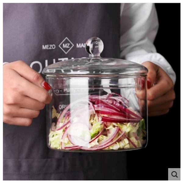 明火直燒電陶爐用耐熱玻璃鍋小火鍋燉湯鍋煮面鍋透明大容量泡面碗 ciyo黛雅