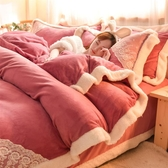 床包組冬季床上珊瑚絨四件套加厚保暖雙面法蘭絨床單被套法萊絨【好康免運八折下殺】