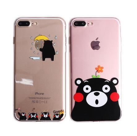 【SZ33】日本熊本熊TPU+掛繩 iphone 6s 手機殼 iphone 6s plus手機殼i7 iPhone 7/8 plus手機殼
