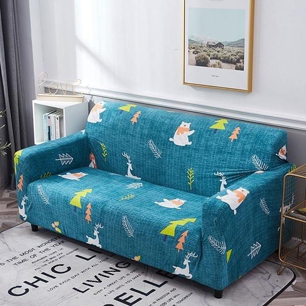 【南紡購物中心】熊熊森林彈性沙發套-3人