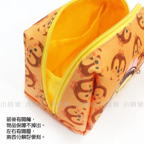 ☆小時候創意屋☆ 迪士尼 正版授權 TSUM TSUM 大眼仔 塗鴉頭 帆布 化妝包 筆袋 收納包 長夾 零錢包