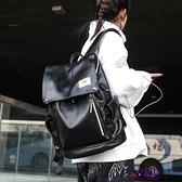後背包 雙肩包 ins書包女 校園高中大學生男雙肩包PU皮質韓國潮牌大容量超火背包  降價兩天