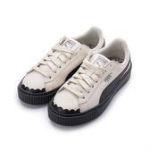 PUMA BASKET PLATFORM SCALLOP WNS 復古厚底鞋 米黑 366723-04 女鞋