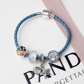 新款珠子吊墜水晶手鍊女款 歐美時尚串珠手飾合金飾品《印象精品》yq149