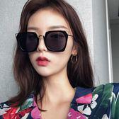 雙12購物節墨鏡女韓版潮彩色復古原宿風韓國太陽鏡新款圓臉顯瘦眼鏡網紅夏沫居家