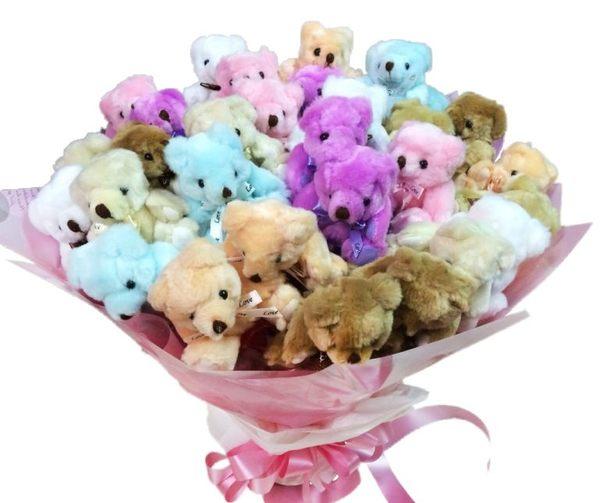 娃娃屋樂園~30枝可抽取.花棒熊花束 每束1700元/第二次進場/婚禮花束