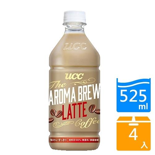 UCC艾洛瑪拿鐵咖啡525ml x 4【愛買】