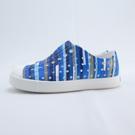 Native JEFFERSON PRINT 波西米亞系列 小童洞洞鞋 131001018860 藍條紋【iSport】