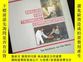 二手書博民逛書店INTERFACE罕見ENGLISH FOR TECHNICAL COMMUNICATION (英文)Y161