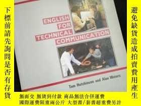 二手書博民逛書店INTERFACE罕見ENGLISH FOR TECHNICAL COMMUNICATION (英文)Y161