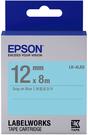 LK-4LAS EPSON 標籤帶(藍底灰字/12mm) C53S654413