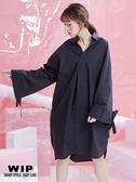 新品2%   WIP  超寬鬆造型襯衫-黑 AW