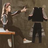 女童套裝秋裝新款韓版12十15歲洋氣13女孩14休閒大童裝潮衣服 居享優品