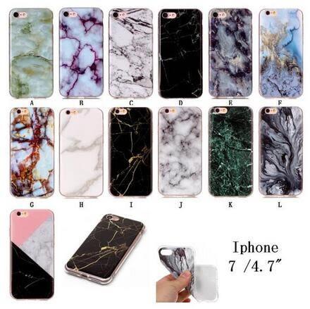 【SZ14】iPhone7/8 plus手機殼 簡約大理石紋軟殼 iPhone 7/8手機殼 iPhone 7/8 plus