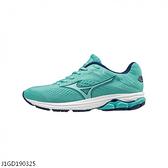 MIZUNO WAVE RIDER 23 [J1GD190325] 女 慢跑鞋 運動 休閒 輕量 透氣舒適 緩衝 湖水綠