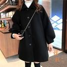 風衣外套女秋冬加厚斗篷型燈籠袖大衣寬鬆【...
