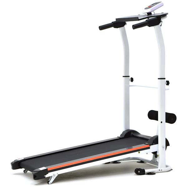 雙飛輪2坡度跑步機(高低扶手+仰臥起坐板)折疊美腿機.小迷跑迷你健走機.收腹機【SAN SPORTS】
