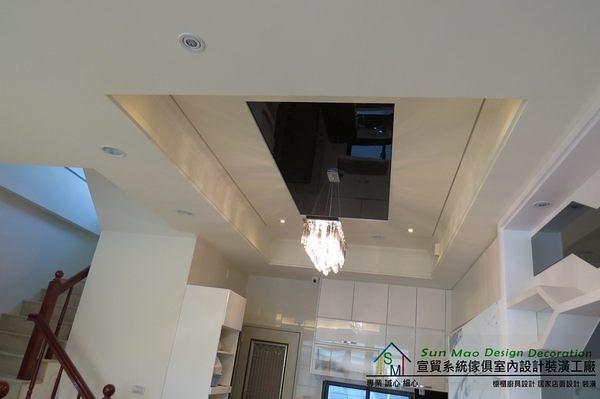 系統家具/造型天花板/台中系統家具/系統櫃/台中室內設計/平釘天花板/台中木工裝潢-sm0241