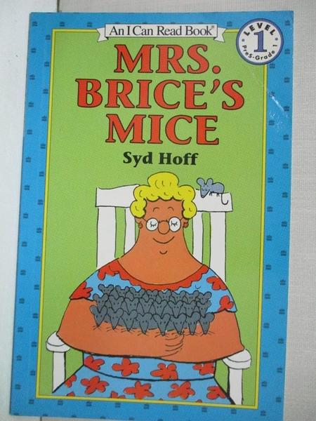 【書寶二手書T1/原文小說_H6Q】Mrs. Brice's Mice_Hoff, Syd