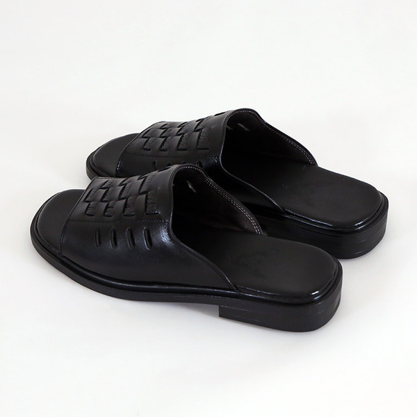 男款 381 台灣製造手工真牛皮好穿柔軟 真皮拖鞋 休閒拖鞋 氣墊拖鞋 爸爸拖鞋 紳士皮拖 59鞋廊