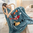 雙層加厚拉舍爾毛毯兒童嬰兒小毛毯被子珊瑚絨辦公室午睡毯蓋腿毯 百分百