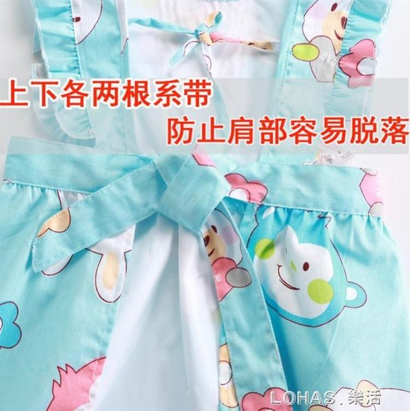 寶寶罩衣秋冬純棉女孩薄款 嬰兒夏季無袖圍裙防水兒童吃飯反穿衣 樂活生活館