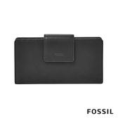 FOSSIL EMMA 真皮薄型長夾-黑色 SL7154001