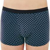SOLIS-夢想之網系列M-XXL天絲棉前開口貼身四角褲(靛藍色)