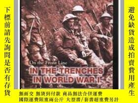 二手書博民逛書店on罕見the front line in the trench