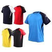 ASICS 男排羽球短袖T恤 (免運 羽球 排球 練習 亞瑟士≡排汗專家≡
