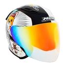 M2R柯基安全帽J-5#6特仕版(多層膜彩片/3/4耳罩式/內藏鏡/內墨鏡/防護頭盔/機車彩繪帽)
