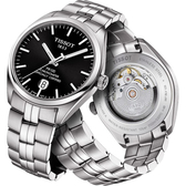 TISSOT 天梭 PR100 Powermatic 80 天文台機械手錶-黑x銀/39mm T1014081105100