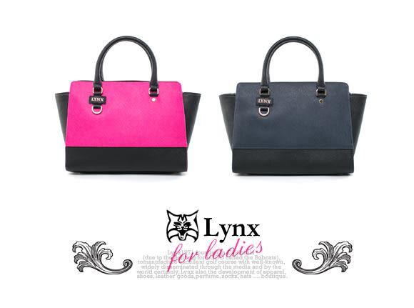 Lynx - 山貓知性名媛真皮系列2way式變形包 ─ 理性藍