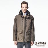 【ST.MALO】Sympatex跨界休旅行家專業外套-1636MJ-棕灰色