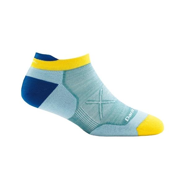 DarnTough Vertex No Show Tab Ultra-Light Cushion 1018 女款跑步透氣羊毛襪 亮藍色