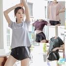 【BODYAIR】寬鬆網袖親膚上衣+側拼色口袋短褲套裝(慢跑.運動.健身)
