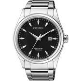 CITIZEN 星辰 光動能鈦金屬手錶-黑x銀/41mm BM7360-82E