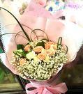 網路人氣情意花店~花禮即時送~精緻粉+白玫瑰花束11朵~花公子可當日為您送達!!